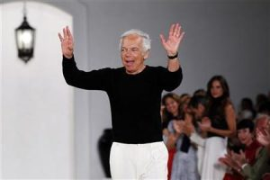 Designer Ralph Lauren waves after presenting his Spring/Summer 2013 collection during New York Fashion Week, September 13, 2012. REUTERS/Lucas Jackson