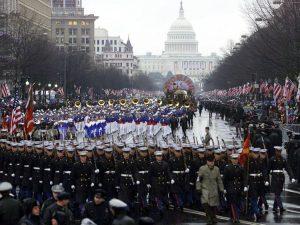 2001 parade perdana setelah George W Bush dilantik