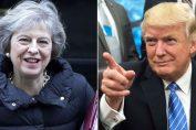Theresa May mengatakan 'berlawanan menarik' tentang pertemuannya dengan Trump