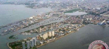 Foto udara kawasan utara Jakarta. (ANTARA FOTO/Andika Wahyu)