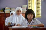 Siswa Tunanetra SMP LB YPAB Surabaya Ujian Nasional