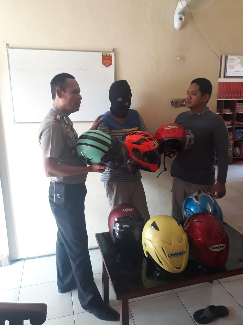 Polsek Kebomas Berhasil Tangkap Pencuri Helm - Cahaya Pena