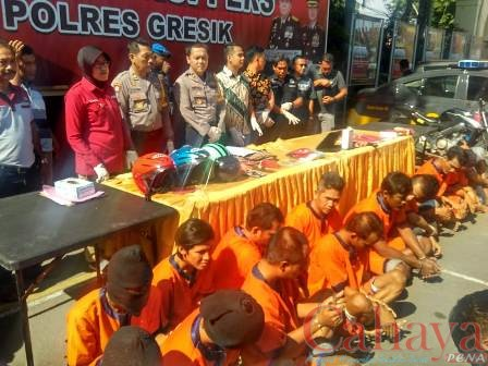 Foto : Polres Gresik Berhasil bekuk 57 tersangka Kejahatan (28/9)