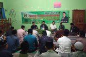 Komisi 1 DPRD Gresik Sholihuddin saat melakukan Sosialisasi Perda di Desa Kemangi Kecamatan Bungah Gresik.