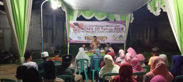 Anggota Komisi III DPRD Gresik H. Suberi saat lakukan Reses tahap III di Desa Wadeng Kecamatan Sidayu, Gresik.