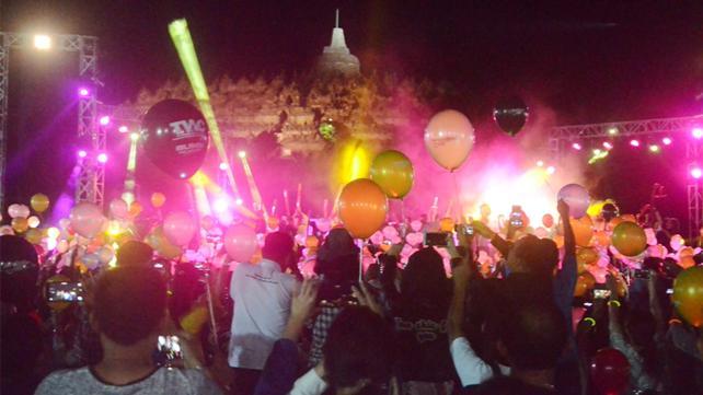 Balon LED meriahkan Borobudur Nite 2018 di TWC Borobudur. Foto: krjogja