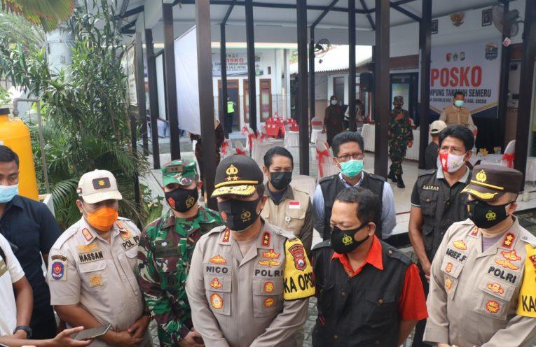 Kapolda Jatim Irjen Pol Nico Afinta saat kunjungi Kampung Tangguh Semeru Desa Sukorejo, Kecamatan Kebomas Gresik