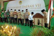 Bupati Gresik saat membuka Musda ke VII DPD LDII Gresik di kantor Jalan Dr. Wahidin S.H. Kecamatan Kebomas