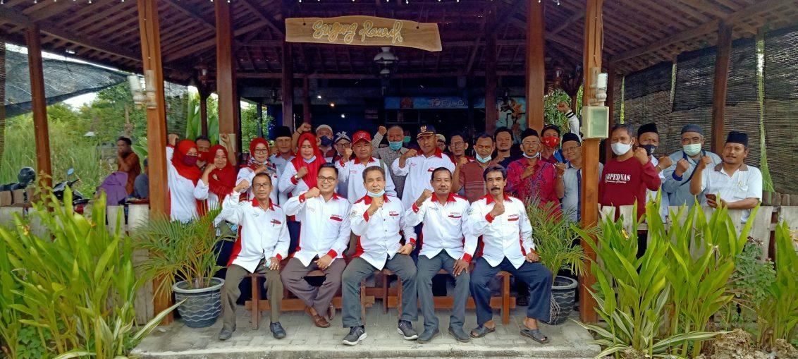 Rakor DPC Abpednas Gresik dengan PAC di Cafe Joglo Kecamatan Dukun
