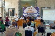 Sosialisasi Kepala BPN Gresik Bersama Pemdes Randuboto kepada warga terkait Penataan Tanah Komperhensif di Balai Desa Randuboto Sidayu.