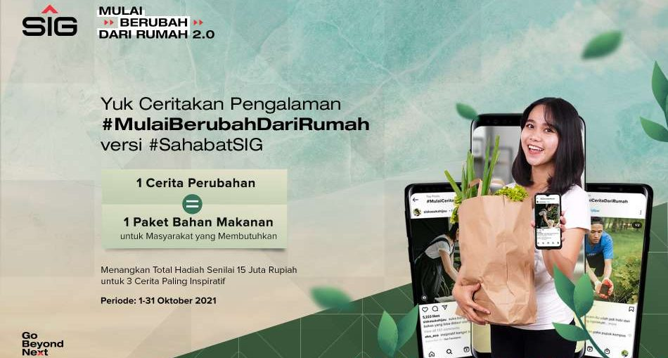 PT Semen Indonesia (Persero) Tbk mengambil peran kepedulian terhadap lingkungan dengan melanjutkan gerakan #MulaiBerubahDariRumah 2.0.